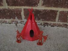 Marx Indian Teepee Village 1/32 54MM Fort Apache Toy Solider Diorama Tepee