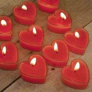 Eccellente Heart Shape Wax Scented Candles,Pack of 24,Red…