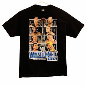 Vintage 2003 WWE WWF WrestleMania XIX (19) T-Shirt Men's Large L Black
