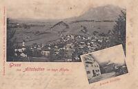 AK Altstedten, Allgäu, Brauerei Schäffler, gel. 21.5.1901 nach Bad Oberdorf