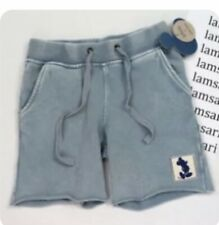 Nwt Disney Junk Food boys Mickey Mouse Raw Hem Drawstring Knit Shorts Large