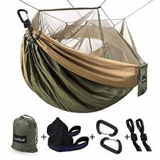 Single & Double Camping Hammock With Mosquito/Bug Net 10ft
