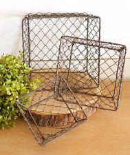 Small Wire Berry Baskets~ Set of 3~Farmhouse Decor