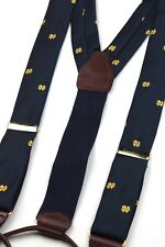 University of Notre Dame Blue Gold CAS Germany Twill  Embroidered Suspenders