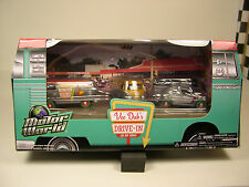 GREENLIGHT 1:64 SCALE VW 5 VEHICLE DRIVE IN SERIES ALL VEHICLES WITH GREEN TIRES
