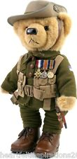 The Great War LTD ED Private Harvey  Gallipoli Centenary Teddy Bear w WW1 Medals