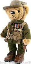 The Great War LTD ED Private Harvey  Gallipoli Centenary Teddy Bear w WW1 Medals