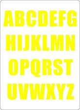 Letter sheet sticker vinyl decal car bike door wheelie bin yellow race