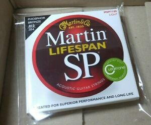 Martin SP MSP7100 Phosphor Bronze Acoustic Strings Light 12-54 Max 10% Discount