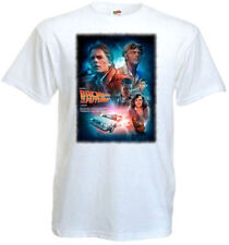 Back To The Future T shirt white movie poster all sizes S-5Xl