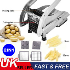 Stainless Steel Potato Chipper Cutter Chopper Slicer French Fry Chip +2 Blades O