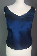 Gina Bacconi iridescent midnight blue corset style top fitted UK16 evening