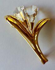 Cristal de Swarovski Recuerdos Calla Lirio Broche Excelente Estado En Caja