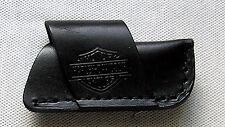 Harley Davidson Messeretui schwarz quer 100 Motorcycles Leder Knife case