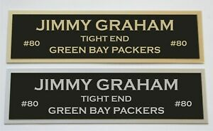 Jimmy Graham nameplate for signed jersey football helmet or photo