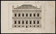 1842, incisione antica Palazzo Sala bianca per Londra / Inghilterra Incisione