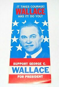 1968 GEORGE WALLACE BROCHURE FLYER campaign pinback button political president