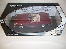 NIB HOT WHEELS FERRARI 250 GT CALIFORNIA SPIDER DIE-CAST CAR 1/18 SCALE, 2002