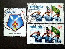 Malaysia 1974 Scout Jamboree Loose Set Short Of 50c + Extra 15c - 3v Used #1