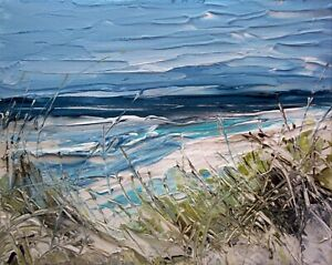 Sea Grasses, Coastal / Landscape Art. Original Acrylic Painting.