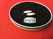 LADIES GENTS SILVER RING BY FOSSIL. BOXED