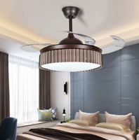 """42""""Creative Retractable Blades LED Chandelier Remote Invisible Ceiling Fan Light"""