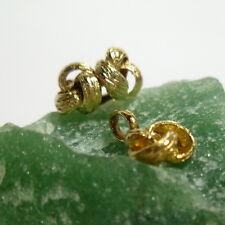 333/8k Oro Amarillo Pendientes de botón con colgante