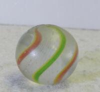 #12720m Vintage German Handmade Latticino Swirl Marble .65 Inches