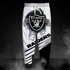 LAS VEGAS RAIDERS OAKLAND Mens Sweatpants Sweats Pants Polyester S-6XL Football