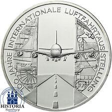 Deutschland 10 Euro Silber 2009 bfr Int. Luftfahrtausstellung ILA in Münzkapsel