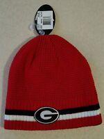 NWT Top of the World Adult GEORGIA BULLDOGS Reversible Knit Hat Ski Cap #150216