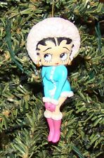 SNOW BUNNY BETTY ORNAMENT (Betty Boop by Westland Giftware, 20139)