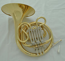 Top new Gold lacquer Cupronickel  pipe F key French horn with Case
