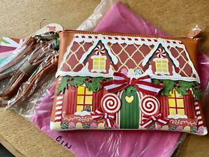 Vendula London Limited Ed. Gingerbread House Christmas Pouch Bag Xmas Gift