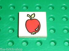 Pomme LEGO Fabuland Tile 2 x 2 with Apple Pattern 3068bpx63 / Set 3675 & 3647