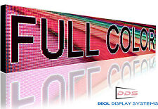 "Full Color LED Sign Program Digital Scroll Board 12""X76"" Open Close Sign"