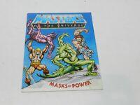 He Man Masters of the Universe Masks of Power Mini Comic Book 1983 MOTU