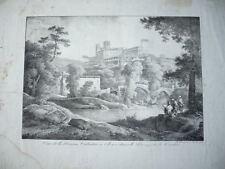 GRANDE GRAVURE 1850 VUE DE LA MAISON VALENTIN A CLISSON BOCAGE VENDEE VENDEEN