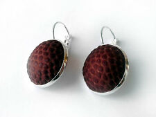 Football Earrings - Handmade Earrings From a Real Leather Football