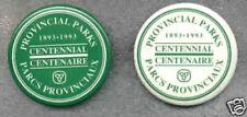 PROVINCIAL PARKS Centennial BUTTONS 1993 Ontario Canada