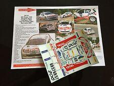 DECALS 1/24 PEUGEOT 206 WRC ROBERT RALLYE ESPAGNE CATALOGNE 2001 RALLY TAMIYA