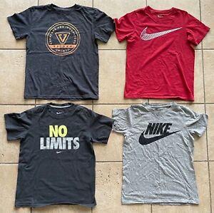 Lot of 4 Boys NIKE/Vissla T-Shirts----Grey/Red--Size Medium-EUC