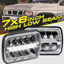 "5x7"" 7x6"" LED Headlight HID Light Bulb DRL Hi-Lo Beam for Jeep XJ YJ Chevy 90W"