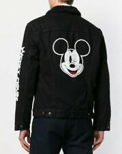 LEVIS x DISNEY Mickey Mouse Black Denim Sherpa Jacket sz L disneyland rare wink