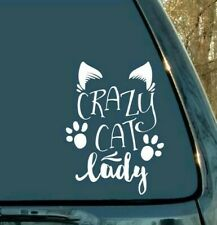 Crazy cat lady ~ vinyl decal/sticker ~ car window laptop,wall sign