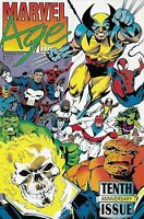 Marvel Age Comic 120 Cover A First Print 1993 Tenth Anniversary Issue