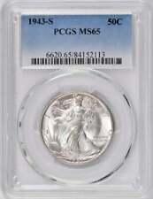 1943-S Walking Liberty Half Dollar : PCGS MS65