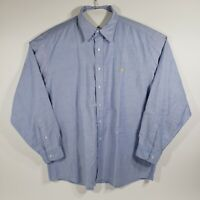 Brooks Brothers Mens XL Shirt Button Down Long Sleeve Blue 100% Supima Cotton