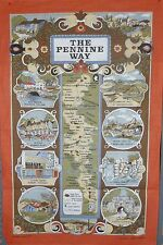PENNINE WAY TEA TOWEL 100% BRITISH COTTON - CELEBRATE 50 YEARS OF WALKING