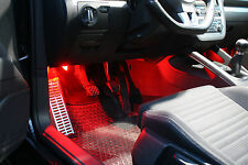 Footwell Lighting LED Red VW Golf 3 4 5 6 PASSAT POLO BORA EOS Sharan Scirocco